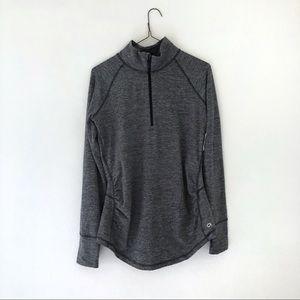 GapFit Maternity Half Zip Pullover Sweatshirt Gray
